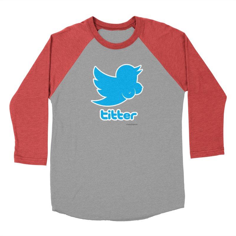 Titter Men's Baseball Triblend T-Shirt by Zachary Knight | Artist Shop