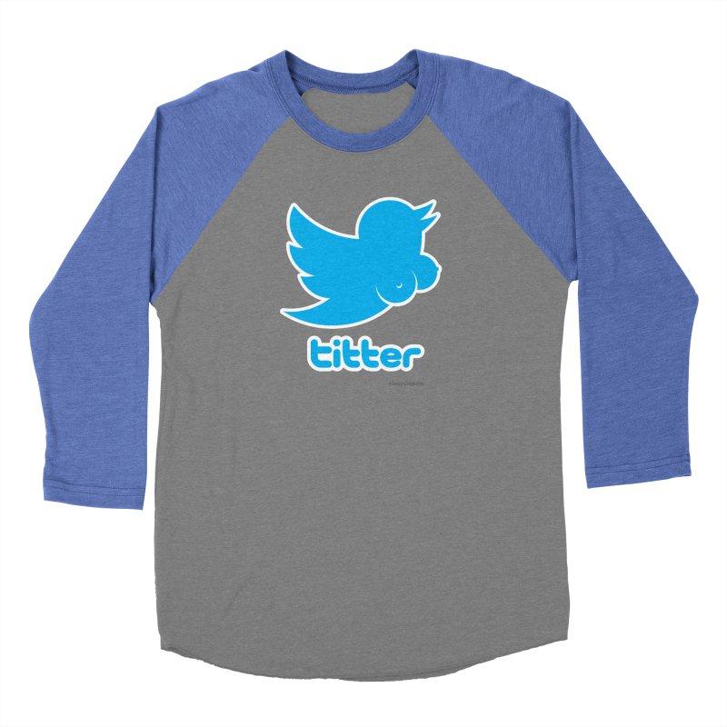 Titter Men's Baseball Triblend Longsleeve T-Shirt by Zachary Knight | Artist Shop