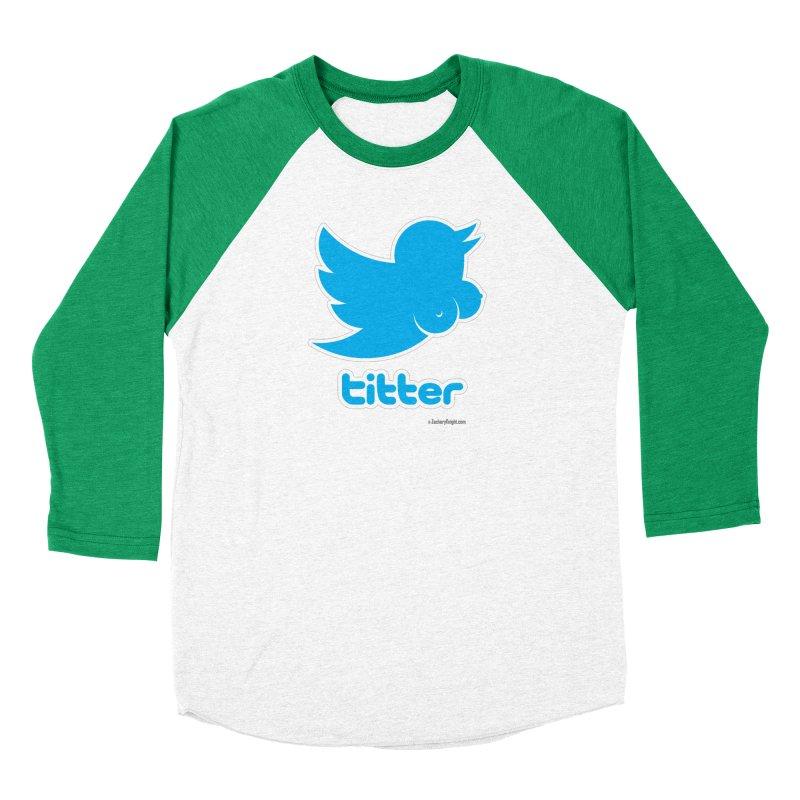 Titter Men's Baseball Triblend Longsleeve T-Shirt by Zachary Knight   Artist Shop
