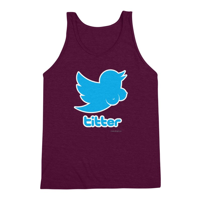 Titter Men's Triblend Tank by Zachary Knight | Artist Shop