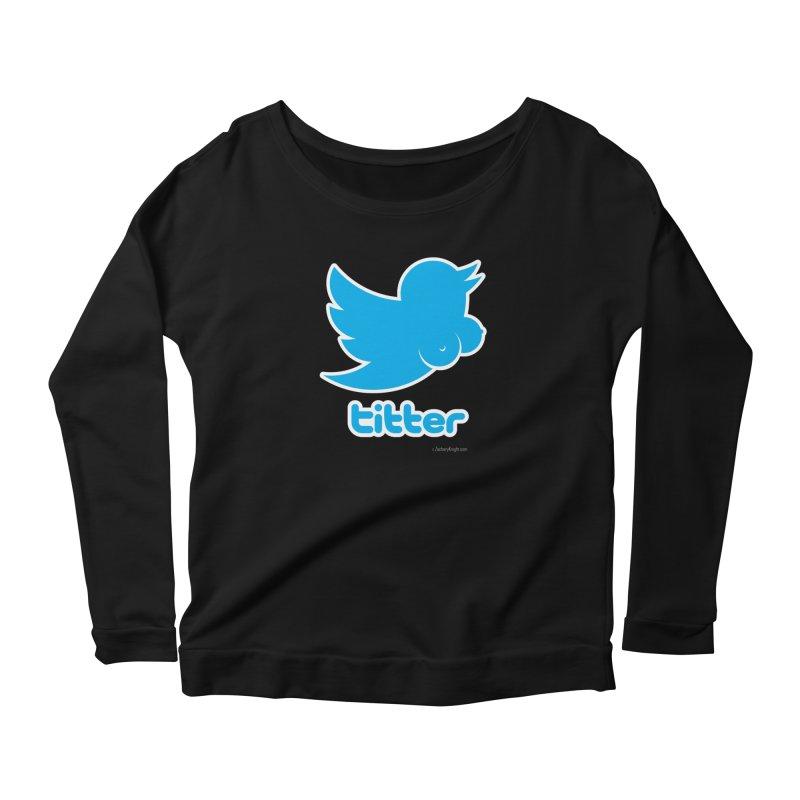 Titter Women's Scoop Neck Longsleeve T-Shirt by Zachary Knight | Artist Shop