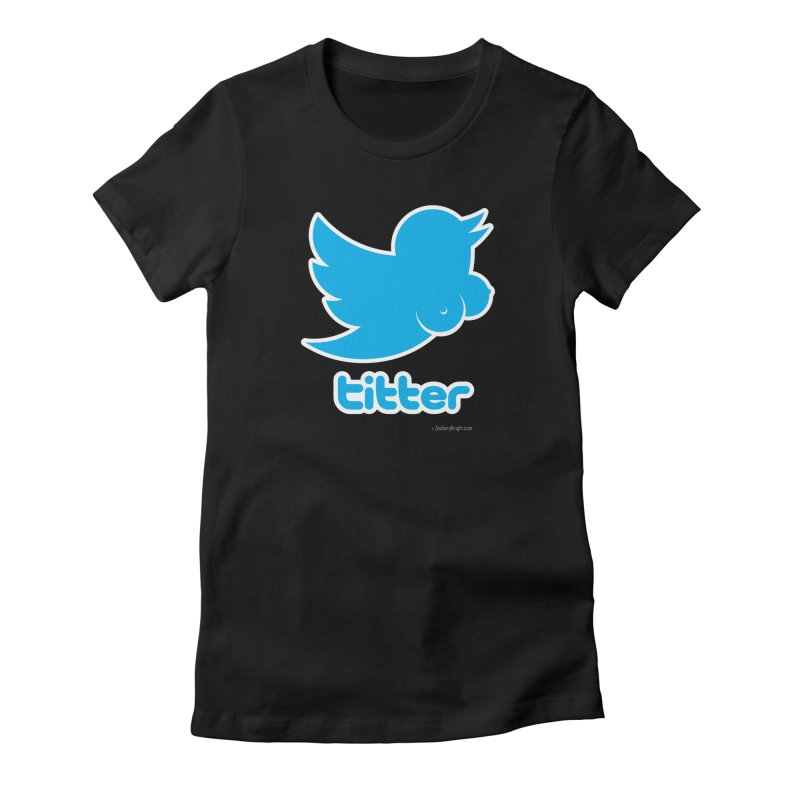 Titter Women's Fitted T-Shirt by Zachary Knight | Artist Shop