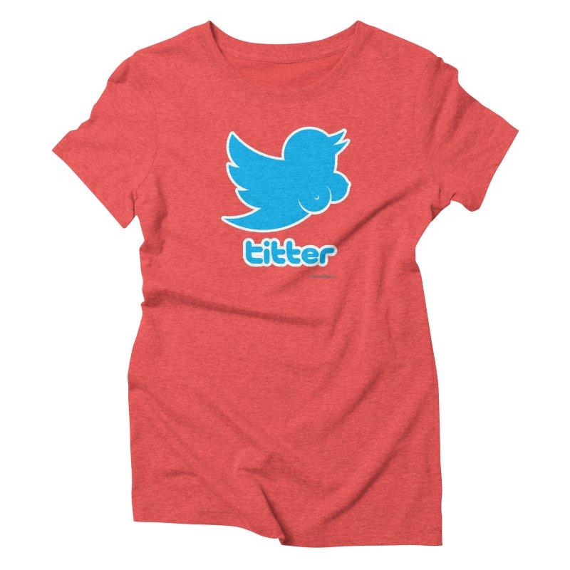 Titter Women's Triblend T-shirt by Zachary Knight | Artist Shop