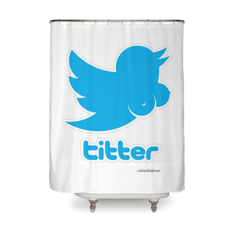 Titter Home Shower Curtain by Zachary Knight | Artist Shop