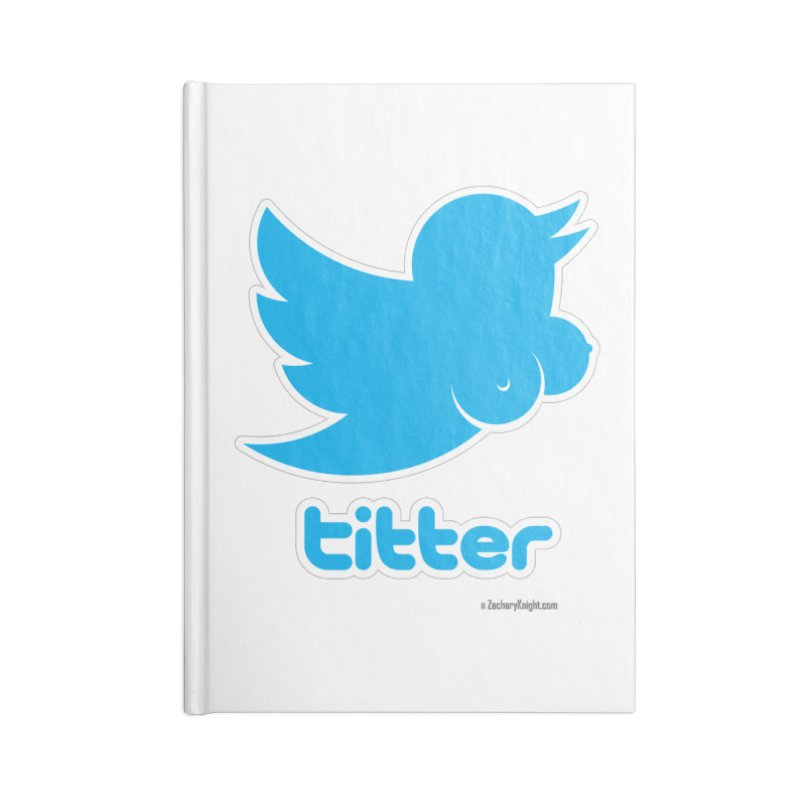 Titter Accessories Lined Journal Notebook by Zachary Knight | Artist Shop
