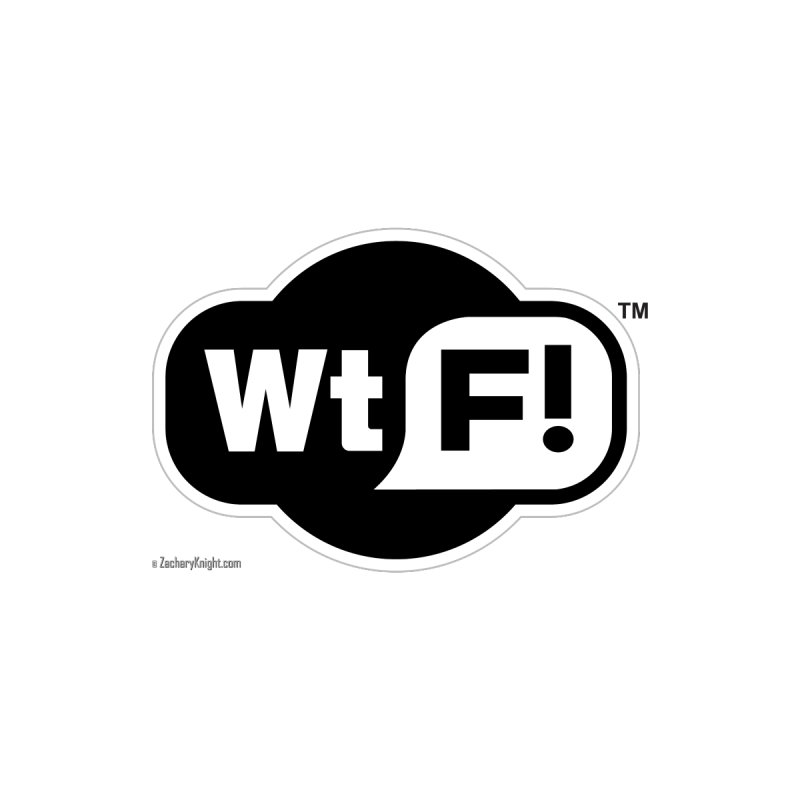 WTF! Home Stretched Canvas by Zachary Knight | Artist Shop