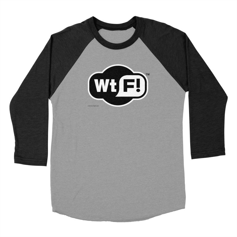 WTF! Men's Baseball Triblend Longsleeve T-Shirt by Zachary Knight | Artist Shop