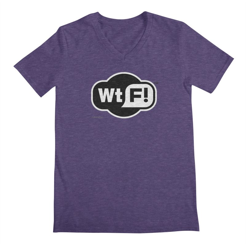 WTF! Men's Regular V-Neck by Zachary Knight | Artist Shop