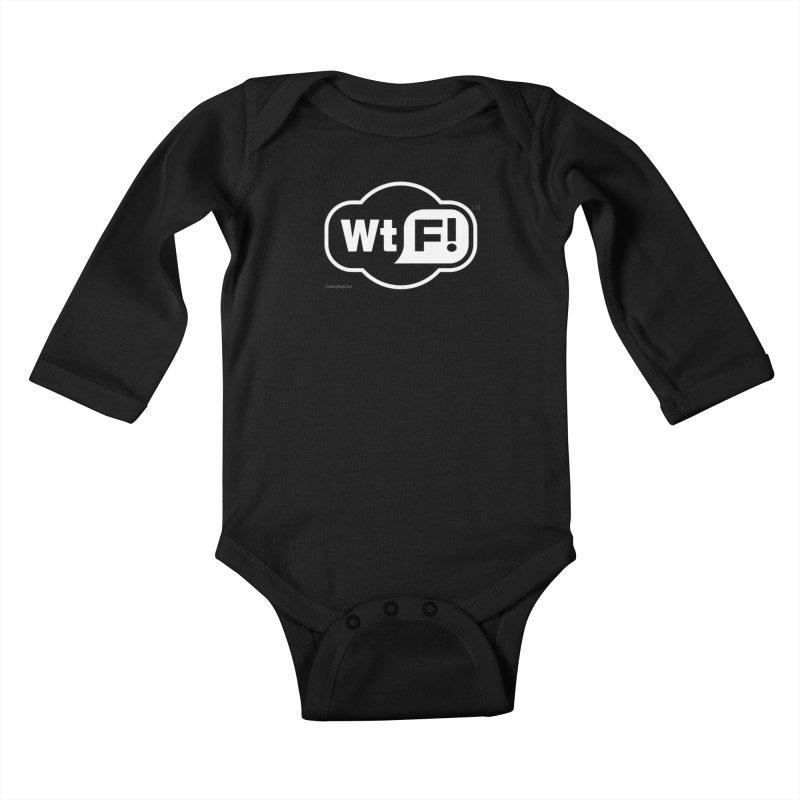 WTF! Kids Baby Longsleeve Bodysuit by Zachary Knight | Artist Shop