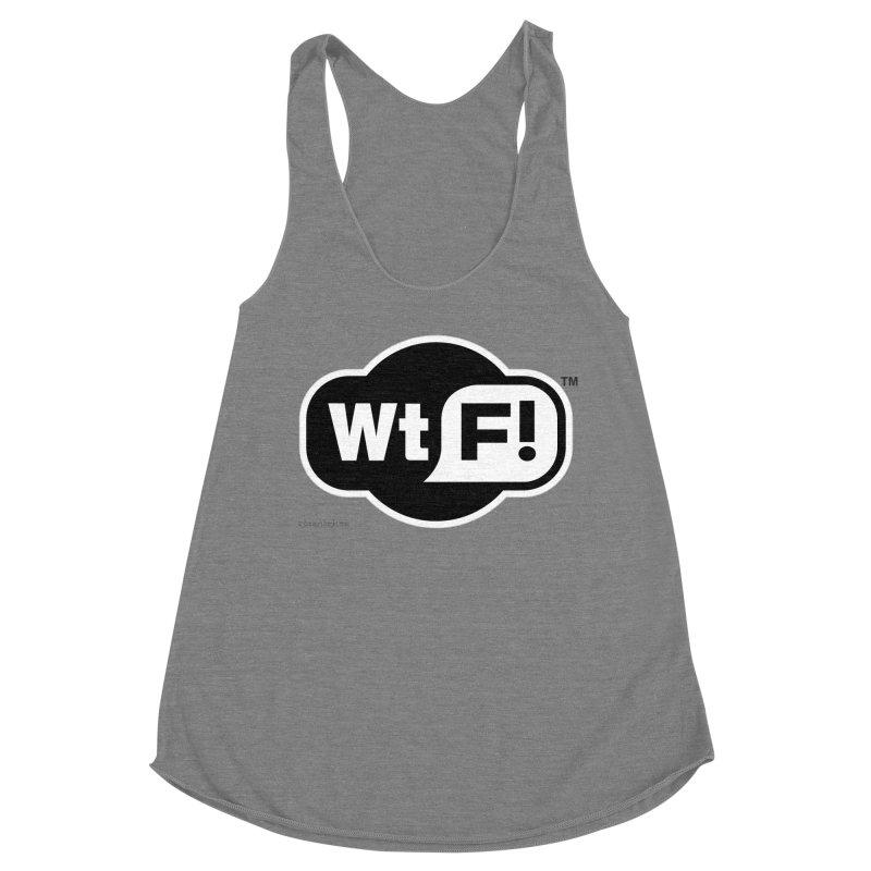 WTF! Women's Racerback Triblend Tank by Zachary Knight | Artist Shop
