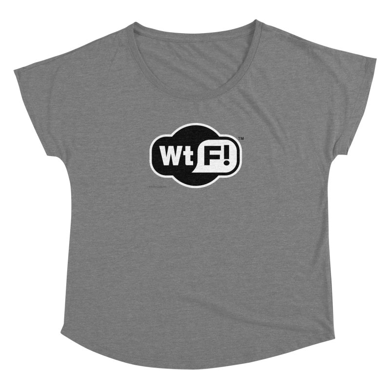 WTF! Women's Scoop Neck by Zachary Knight | Artist Shop