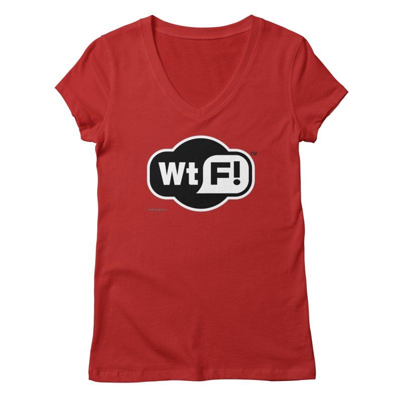 WTF! Women's V-Neck by Zachary Knight | Artist Shop