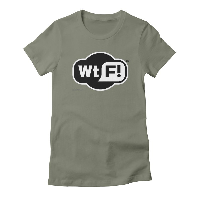 WTF! Women's Fitted T-Shirt by Zachary Knight | Artist Shop