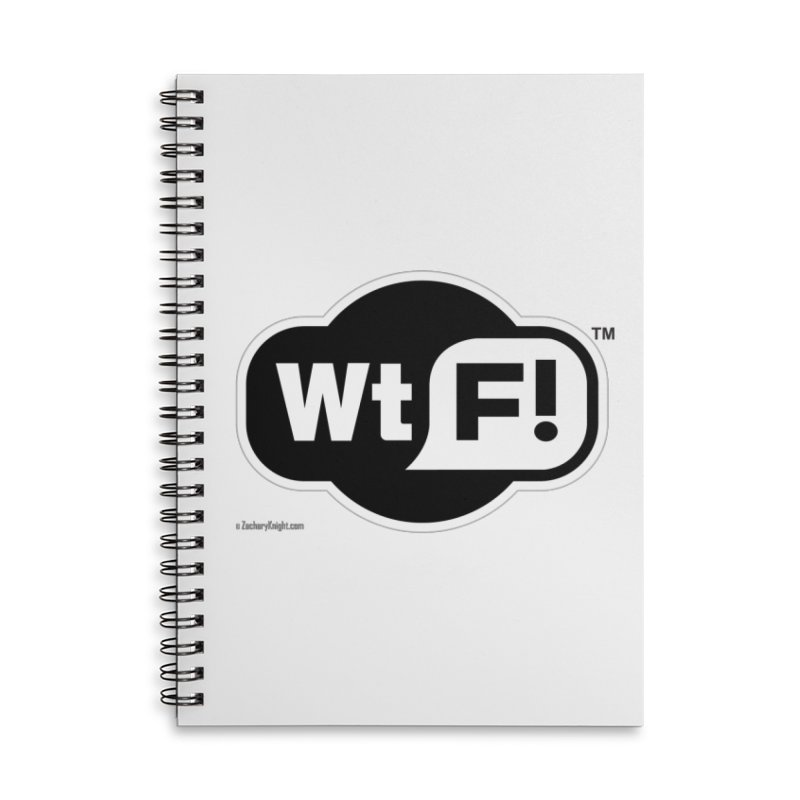WTF! Accessories Lined Spiral Notebook by Zachary Knight | Artist Shop