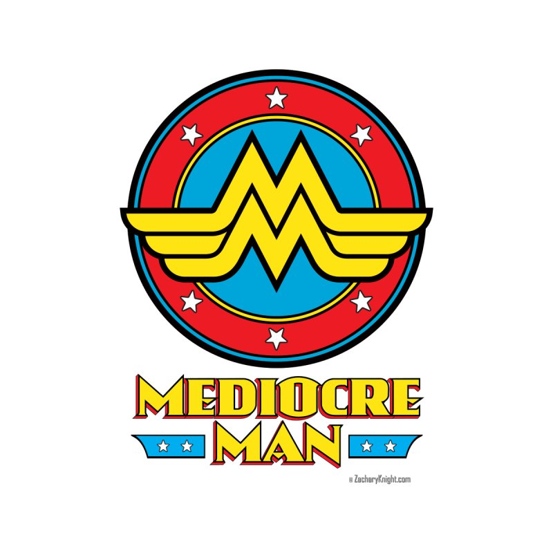 Mediocre Man! Accessories Zip Pouch by Zachary Knight | Artist Shop