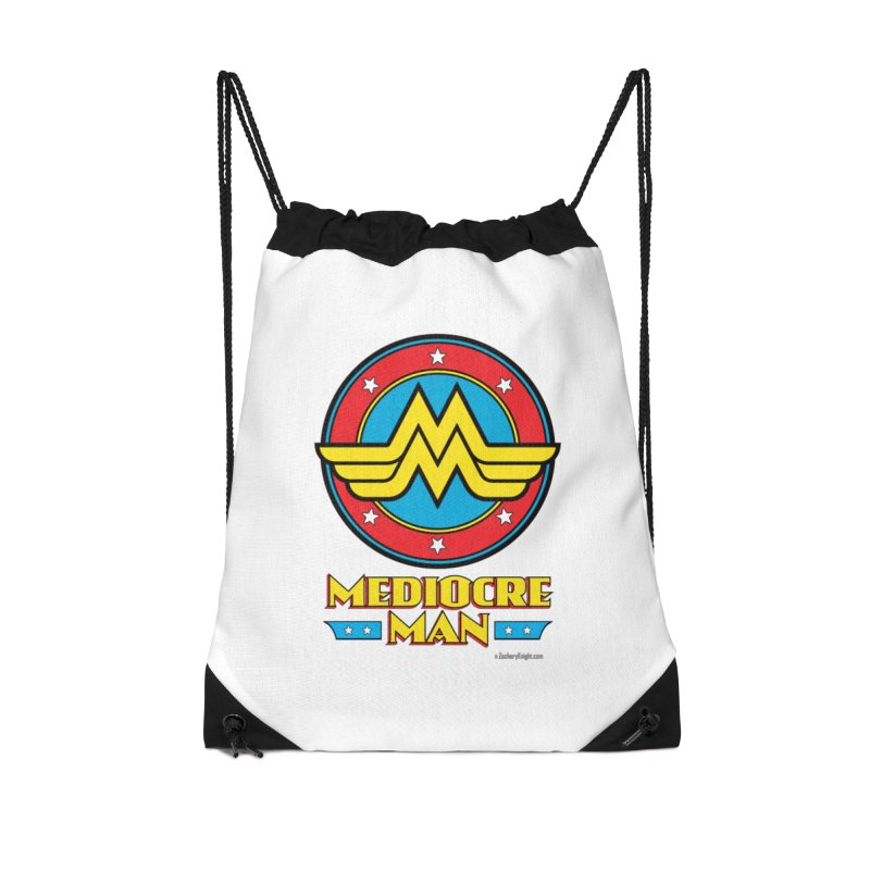 Mediocre Man! Accessories Drawstring Bag Bag by Zachary Knight | Artist Shop