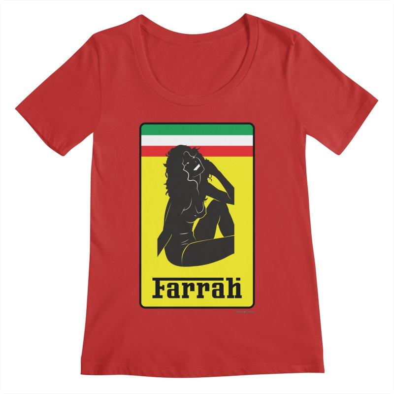 Farrah Women's Regular Scoop Neck by Zachary Knight | Artist Shop