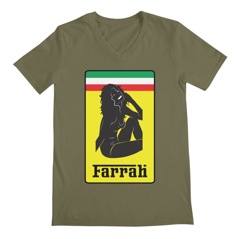Farrah Men's Regular V-Neck by Zachary Knight | Artist Shop