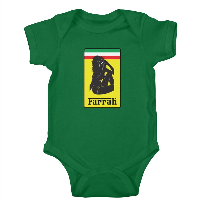 Farrah Kids Baby Bodysuit by Zachary Knight | Artist Shop