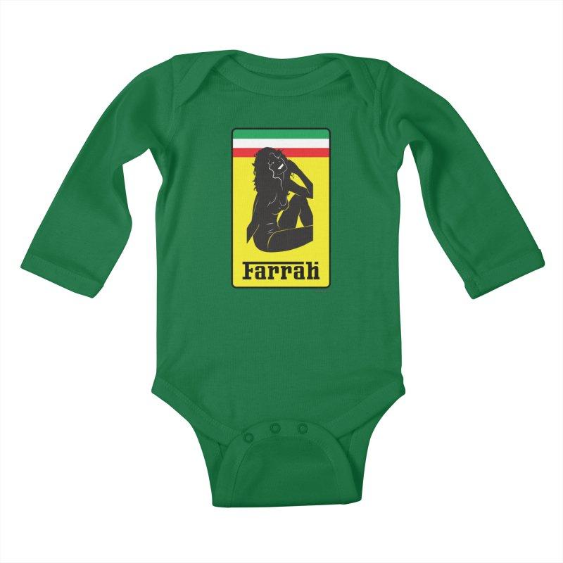 Farrah Kids Baby Longsleeve Bodysuit by Zachary Knight | Artist Shop
