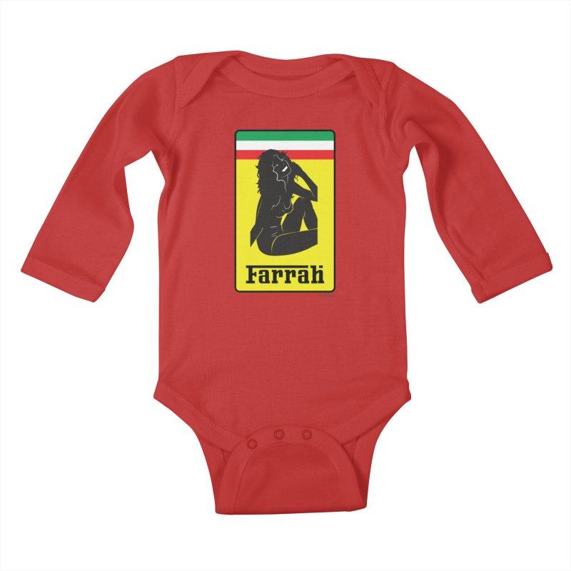 Farrah Kids Baby Longsleeve Bodysuit by Zachary Knight   Artist Shop