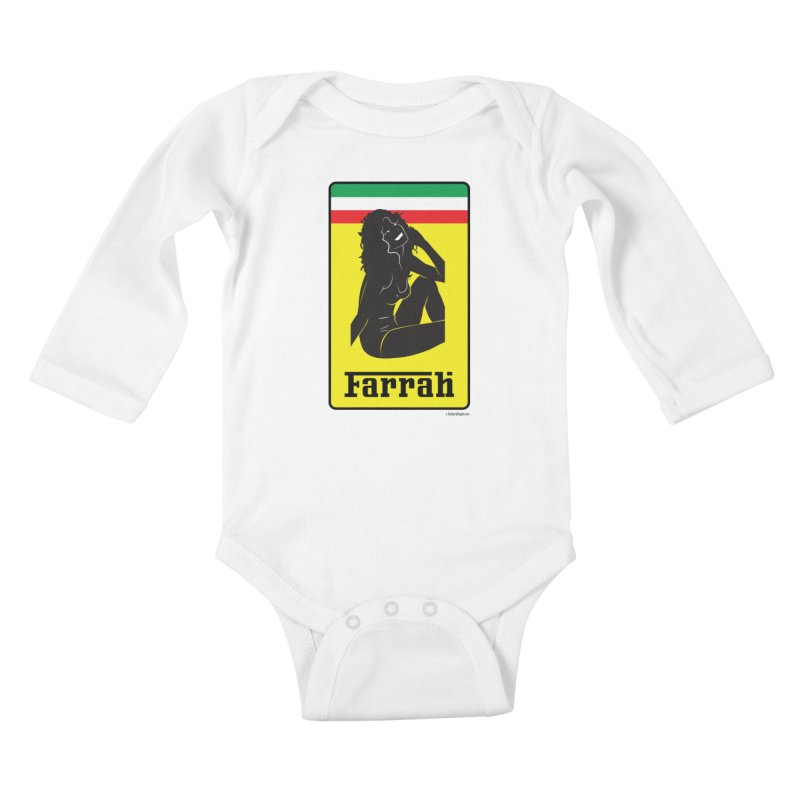 Farrah Kids Baby Longsleeve Bodysuit by Zachary Knight | Artist Shop
