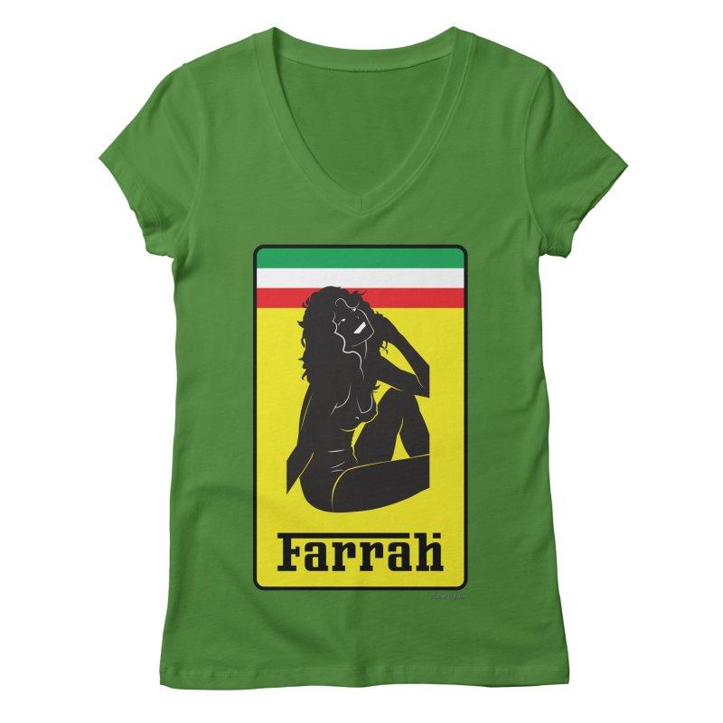 Farrah Women's V-Neck by Zachary Knight | Artist Shop