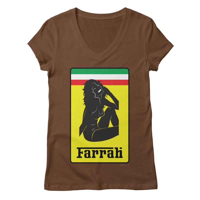 Farrah Women's Regular V-Neck by Zachary Knight | Artist Shop