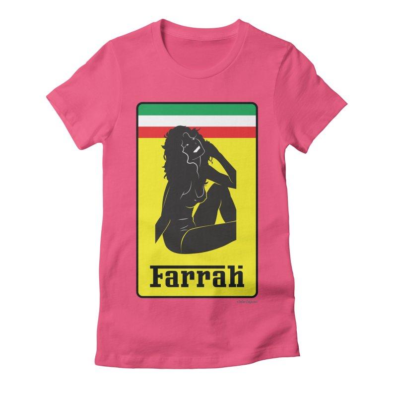 Farrah Women's Fitted T-Shirt by Zachary Knight | Artist Shop