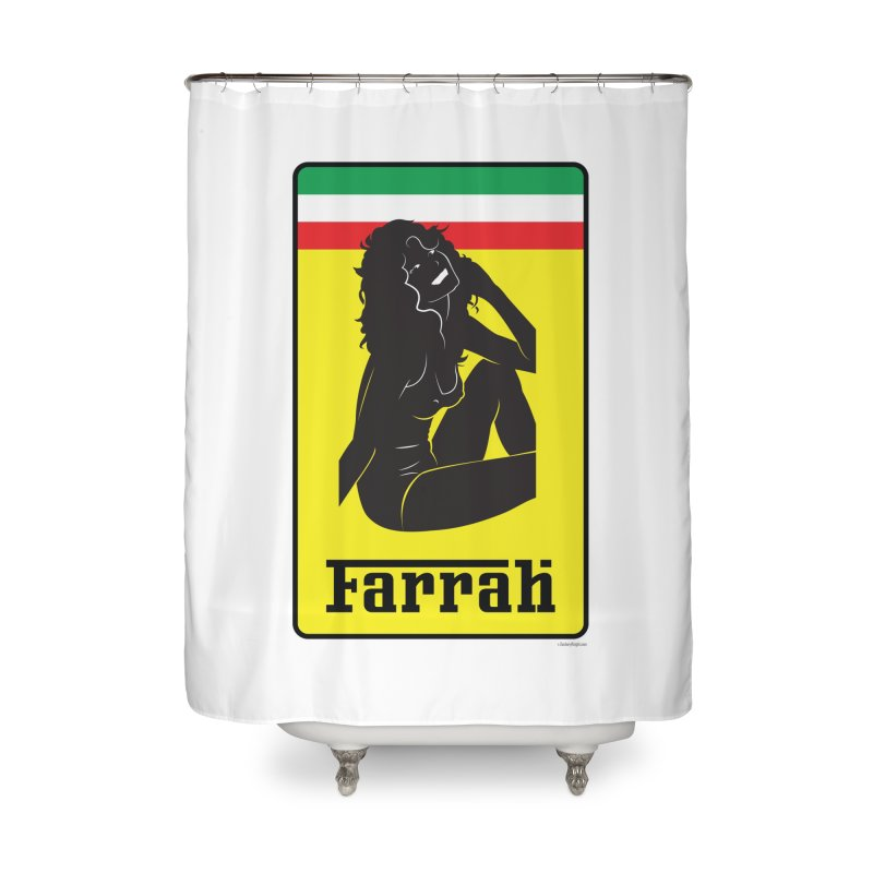 Farrah Home Shower Curtain by Zachary Knight | Artist Shop
