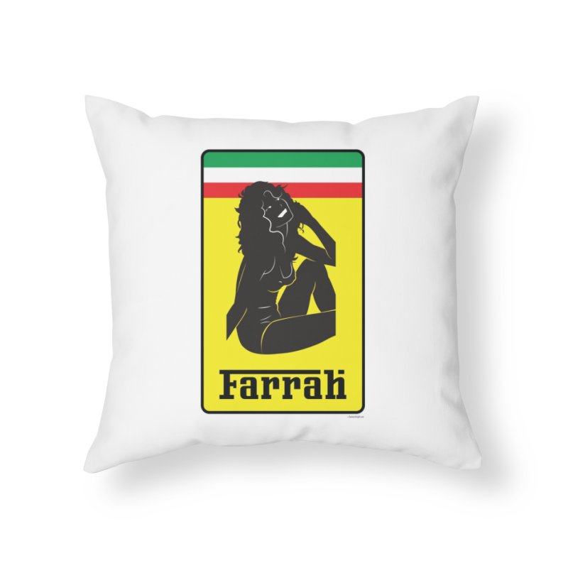 Farrah Home Throw Pillow by Zachary Knight | Artist Shop