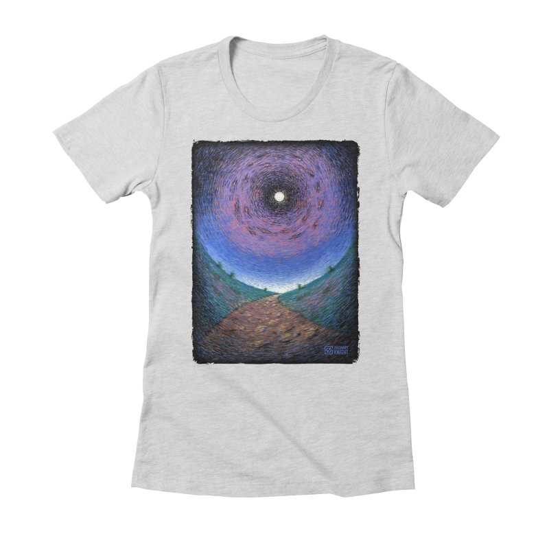 Continuum Women's Fitted T-Shirt by Zachary Knight | Artist Shop
