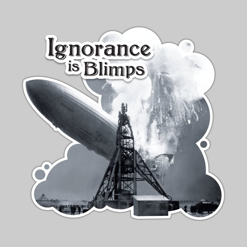 Ignorance Is Blimps Women's V-Neck by Zachary Knight | Artist Shop