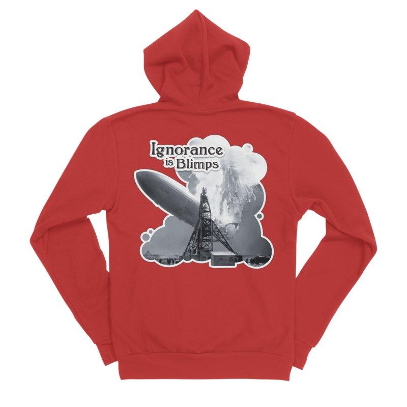 Ignorance Is Blimps Women's Sponge Fleece Zip-Up Hoody by Zachary Knight | Artist Shop