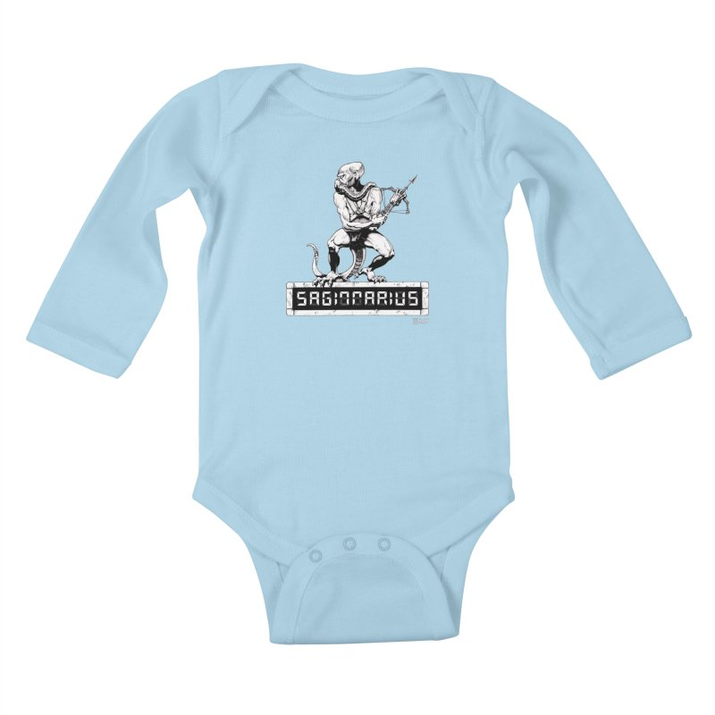 Sagittarius Kids Baby Longsleeve Bodysuit by Zachary Knight | Artist Shop