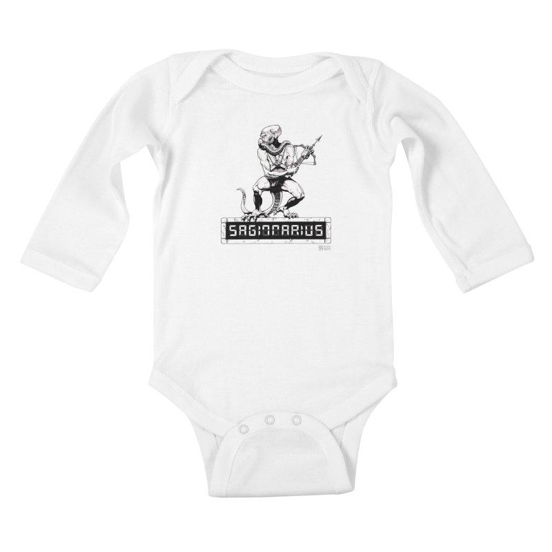 Sagittarius Kids Baby Longsleeve Bodysuit by Zachary Knight   Artist Shop