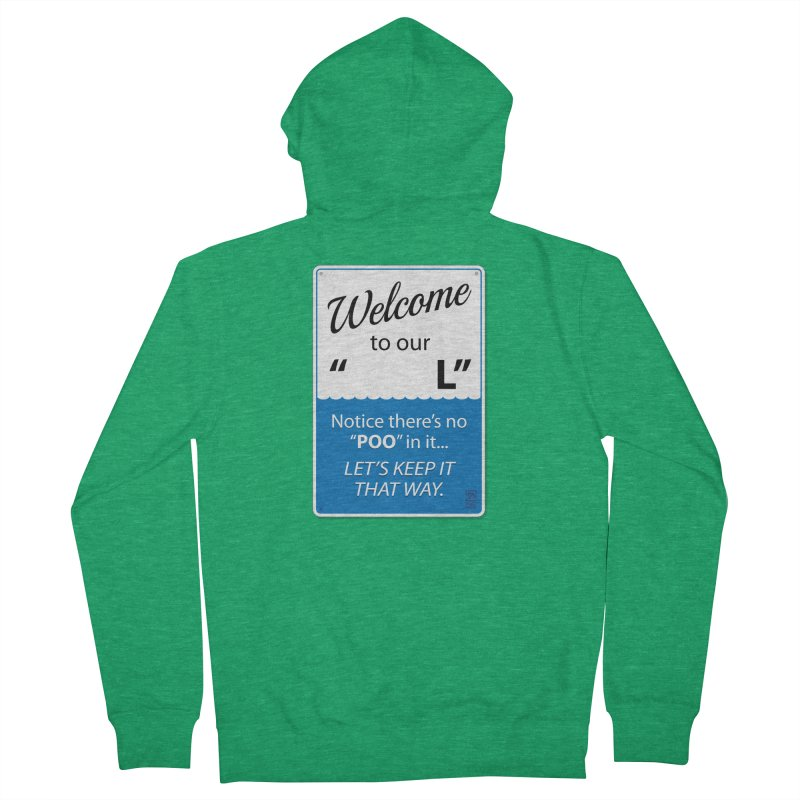 """Welcome To Our """"___L"""" Men's Zip-Up Hoody by Zachary Knight 
