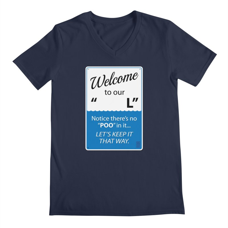 """Welcome To Our """"___L"""" Men's V-Neck by Zachary Knight 