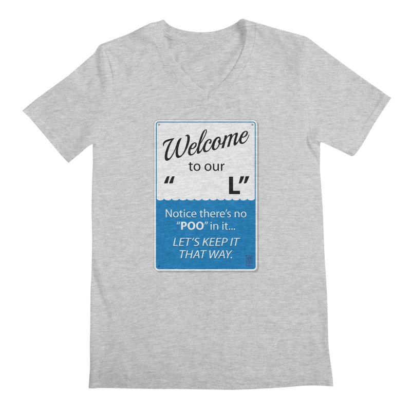"""Welcome To Our """"___L"""" Men's V-Neck by Zachary Knight   Artist Shop"""