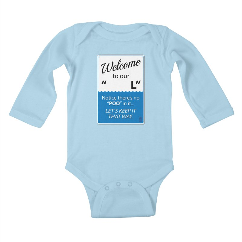 """Welcome To Our """"___L"""" Kids Baby Longsleeve Bodysuit by Zachary Knight 