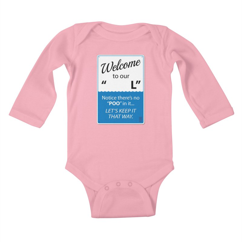 "Welcome To Our ""___L"" Kids Baby Longsleeve Bodysuit by Zachary Knight 