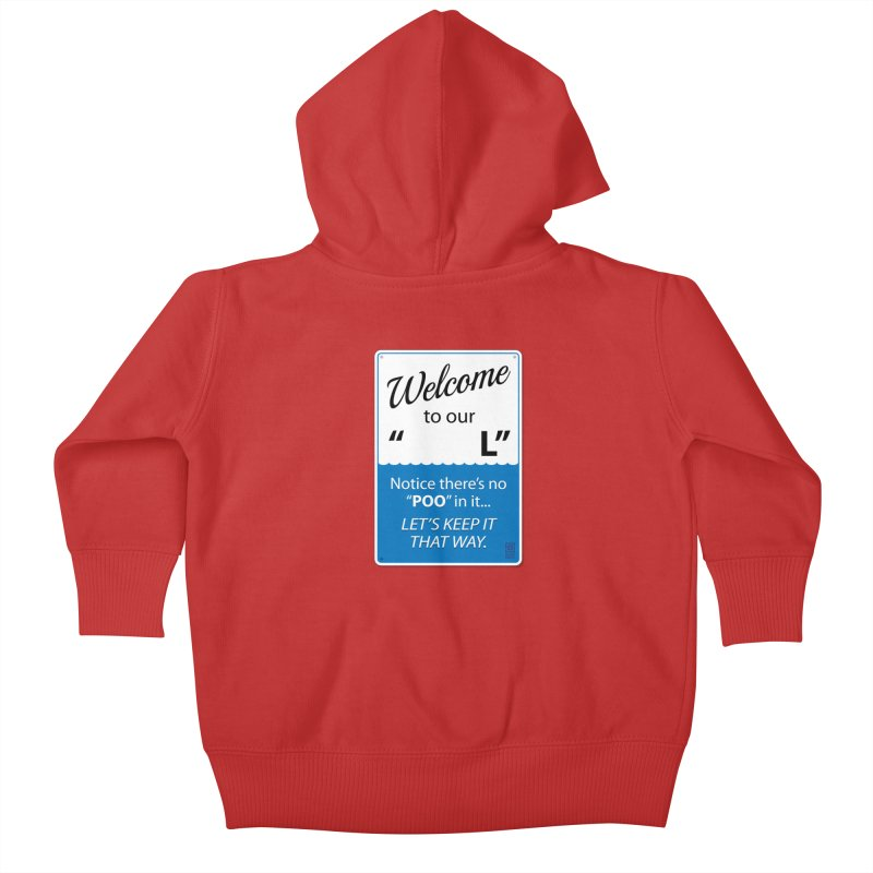"""Welcome To Our """"___L"""" Kids Baby Zip-Up Hoody by Zachary Knight 