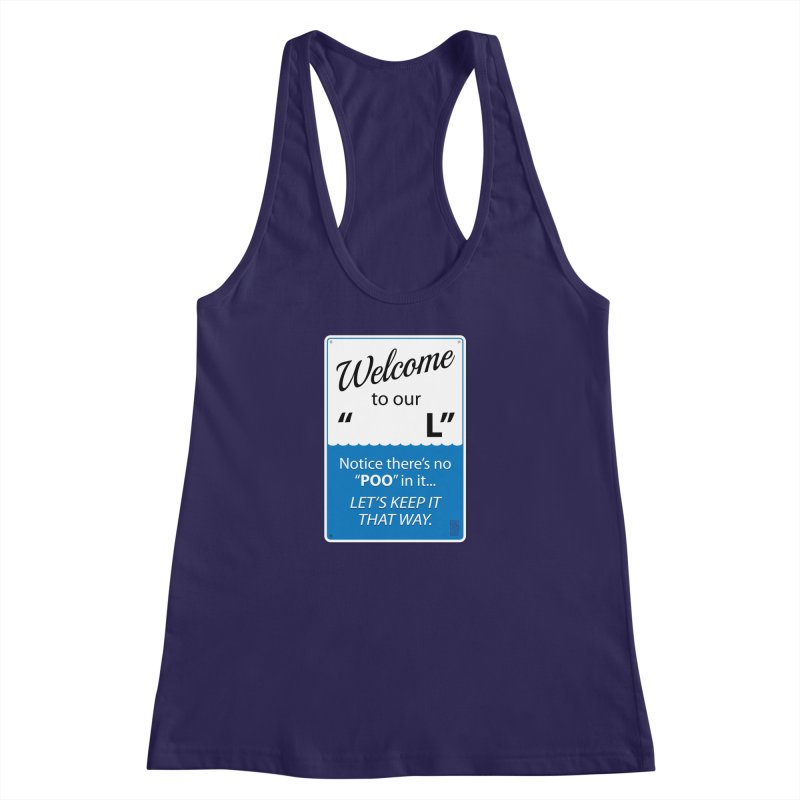 "Welcome To Our ""___L"" Women's Racerback Tank by Zachary Knight 
