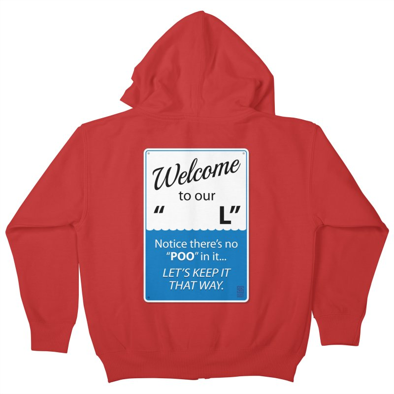 """Welcome To Our """"___L"""" Kids Zip-Up Hoody by Zachary Knight 