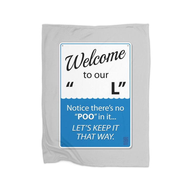 "Welcome To Our ""___L"" Home Fleece Blanket Blanket by Zachary Knight 