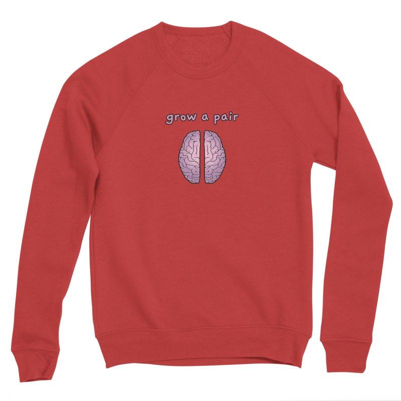 Grow A Pair Women's Sponge Fleece Sweatshirt by Zachary Knight   Artist Shop