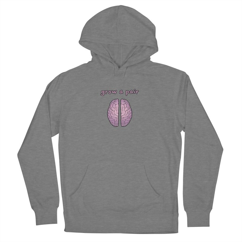 Grow A Pair Women's French Terry Pullover Hoody by Zachary Knight | Artist Shop