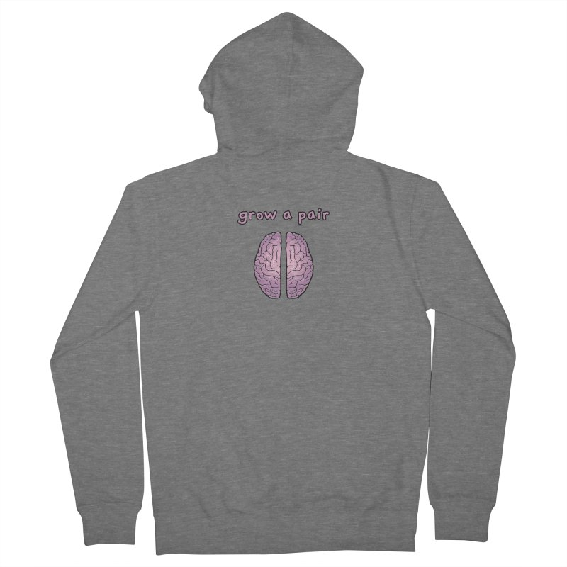 Grow A Pair Women's French Terry Zip-Up Hoody by Zachary Knight   Artist Shop