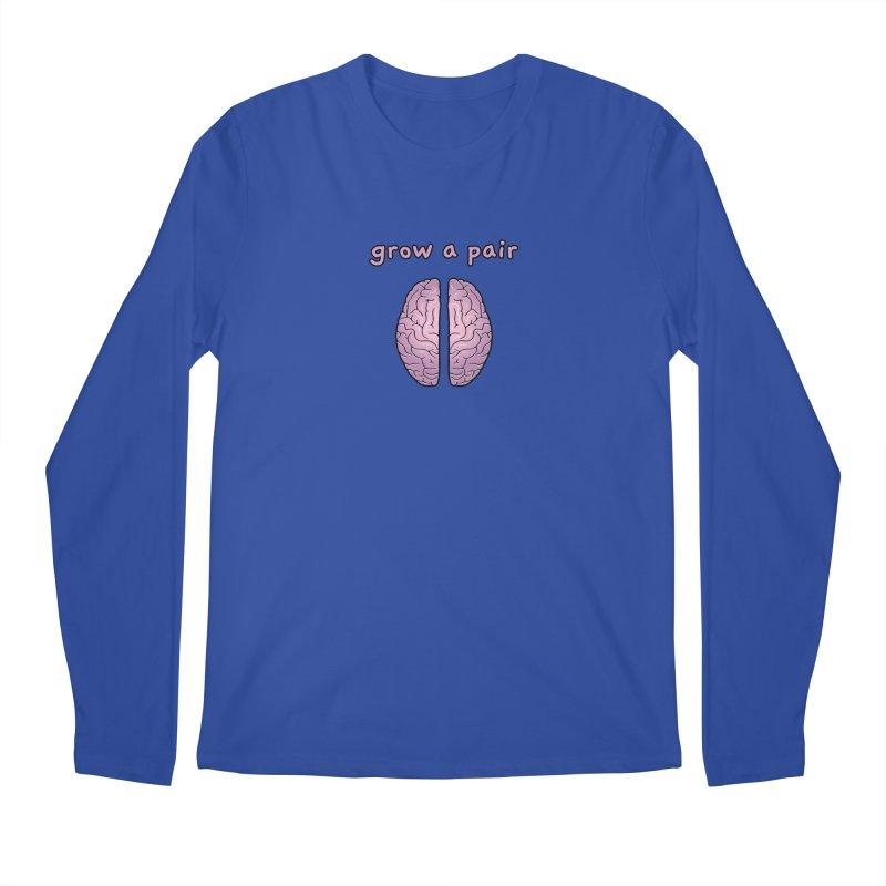 Grow A Pair Men's Regular Longsleeve T-Shirt by Zachary Knight | Artist Shop