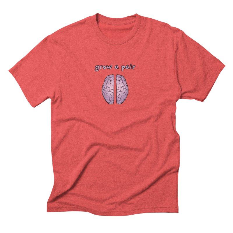 Grow A Pair Men's Triblend T-Shirt by Zachary Knight | Artist Shop